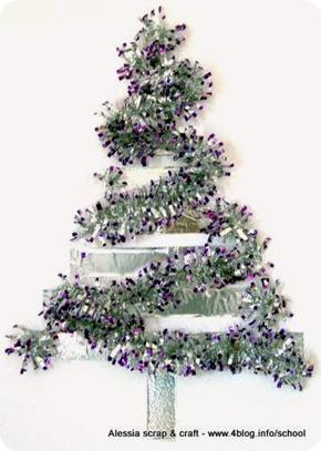 Countdown Natale: albero da parete con nastro di alluminio