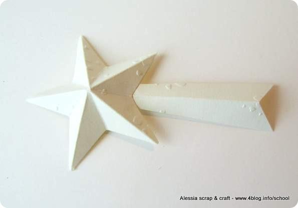 Countdown Natale: stella cometa 3D di carta