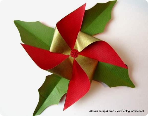 Origami Stella Di Natale.Countdown Natale La Stella Di Natale Alessia Scrap Craft