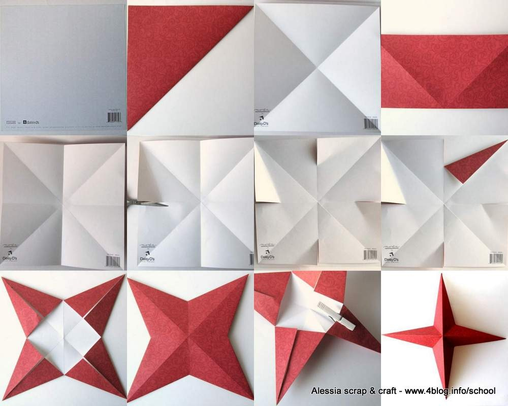 tutorial origami stella