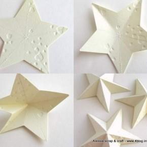 Countdown Natale: ancora stelle 3D di cartoncino