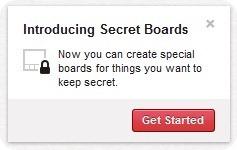 Novità su Pinterest: arrivano le bacheche segrete