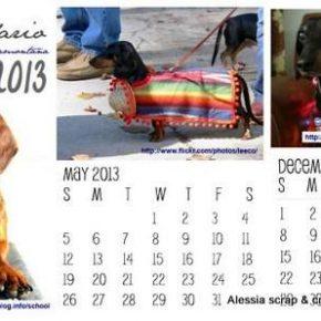 Il calendario 2013 dei bassotti da scaricare e stampare