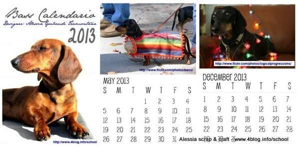 Il calendario 2013 dei bassotti - clicca e scarica