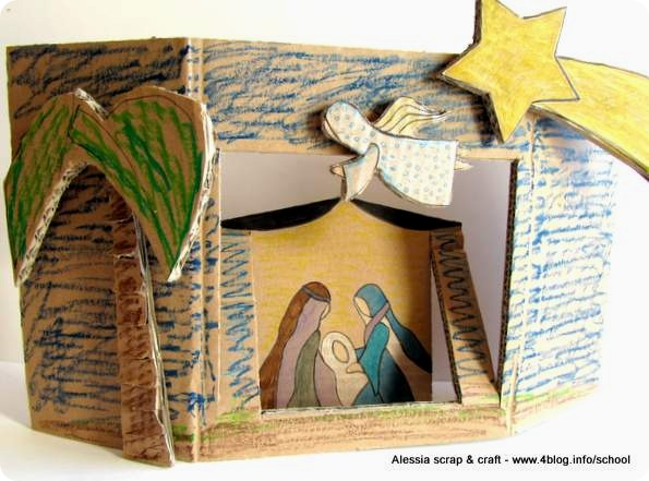 Countdown Natale: il presepe faidate di cartone