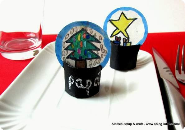 Countdown Natale: palle di neve segnaposto
