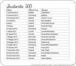 Feste e festività del 2013
