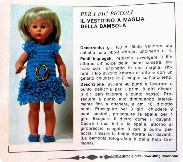 Scuola Di Uncinetto Vintage Tutorial Vestitino Per La Bambola