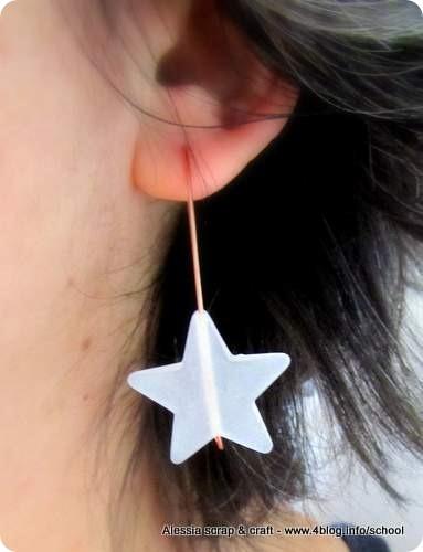 Orecchini fai da te con filo di rame e stella