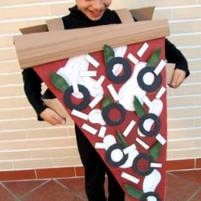 Carnevale: costume fai da te da fetta di pizza
