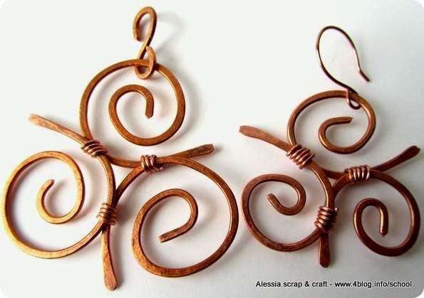 Idee e bijoux in divenire in rame martellato