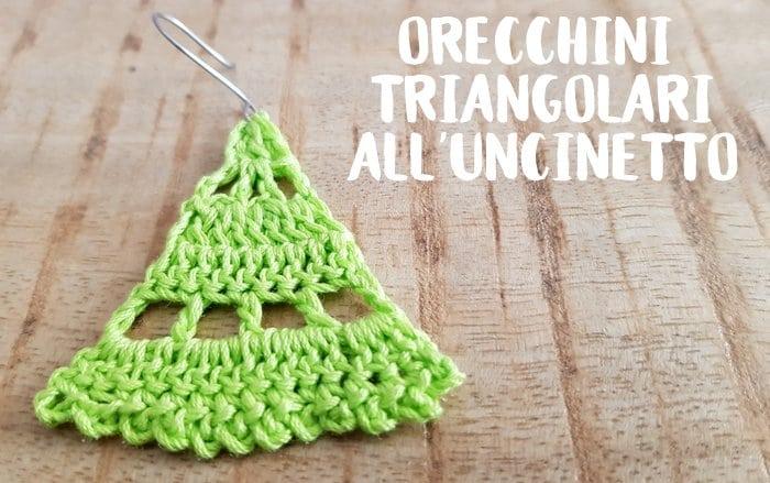 Uncinetto: schema gratis orecchini triangolari a crochet