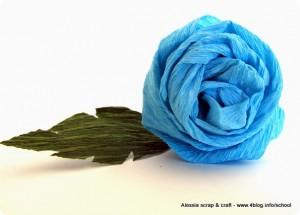 Segnaposto San Valentino: rose di carta crespa