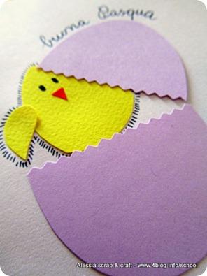 Lavoretti di Pasqua: Pulcino e ovetto per la card