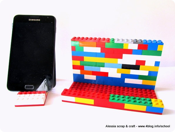 ECO CRAFT TOUR: stand smartphone e tablet con vecchi Lego