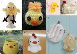 Lavoretti di Pasqua: 7 pulcini e galline all'uncinetto