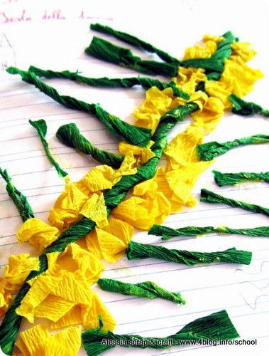 8 marzo 2013: la mimosa fatta dai bambini