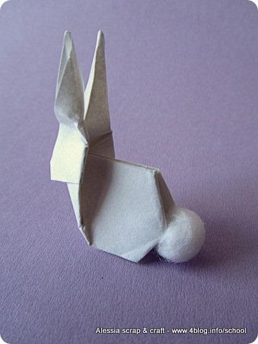 Lavoretti di Pasqua: il coniglietto origami