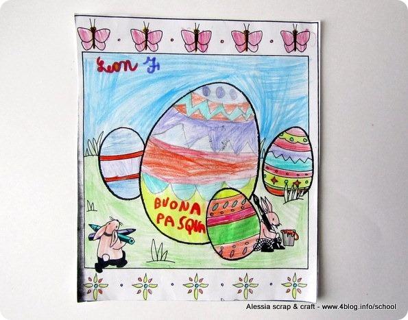 Lavoretti di Pasqua: biglietti di auguri dalla scuola