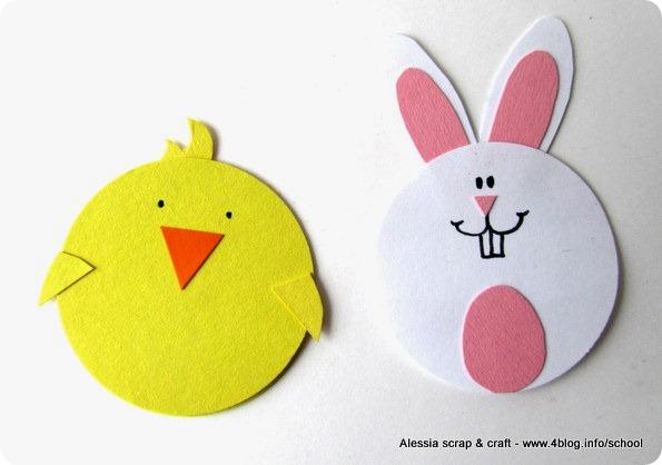 Lavoretti di Pasqua: il pulcino porta ovetti