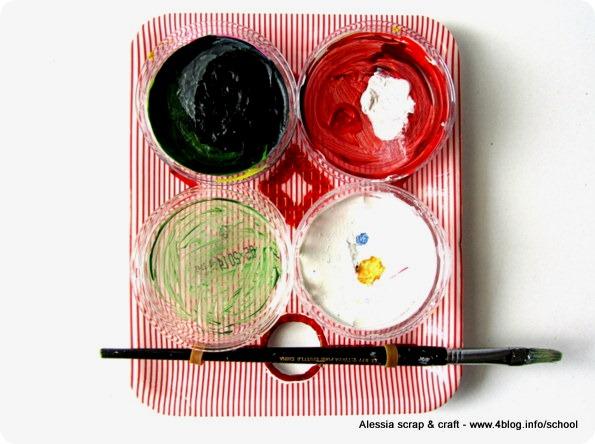 Eco Craft Tour: tavolozza da pittore riciclando coperchi