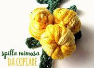 Tutorial spilla mimosa a crochet per l' 8 marzo