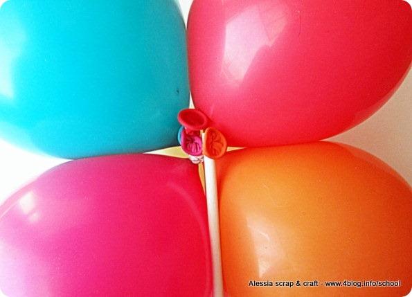 Lavoretti per primavera e festa della mamma: fiori di palloncini
