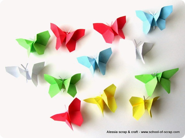 Lavoretti di primavera volo di farfalle origami alessia for Lavoretti di primavera