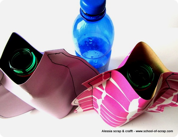 Riciclo creativo: vasi da fiori con carta e plastica