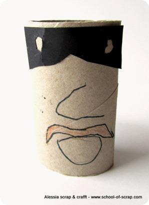 Lavoretti con i bambini: Zorro di tubo di cartone