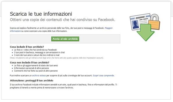 Facebook: Come scaricare e salvare dati e foto dal proprio profilo
