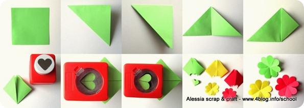 Lavoretti: come fare fiori di carta con quadrati colorati
