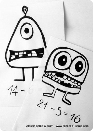 Impariamo matematica con i mostri: sottrazioni per la scuola primaria
