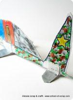 Lavoretti bambini: l'aereo militare di cartone