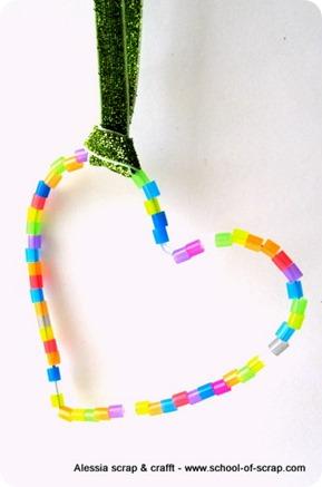 Cuori di perline per la mamma e per decorare la casa