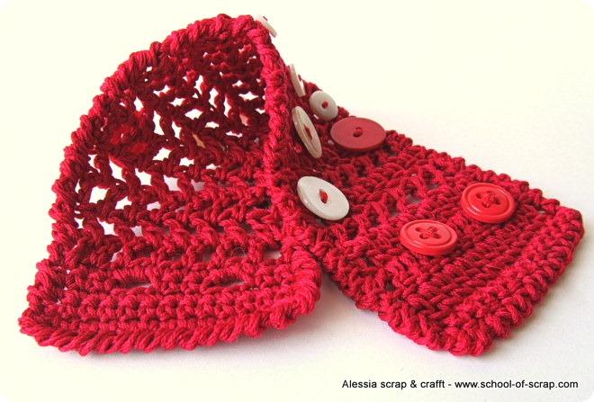 Red: ancora un altro braccialetto di rete a crochet
