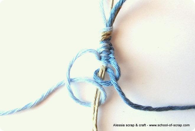 Favorito Corda cotoni colorati e macramè per fare braccialetti estivi  NL62