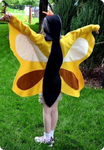 Carnevale: come cucire un vestito da farfalla di pannolenci
