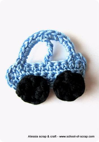 Scuola di Uncinetto: la macchinina a crochet