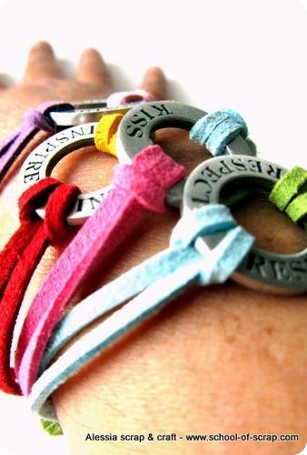Rispetto, baci, protezione e inspirazione nei braccialetti.