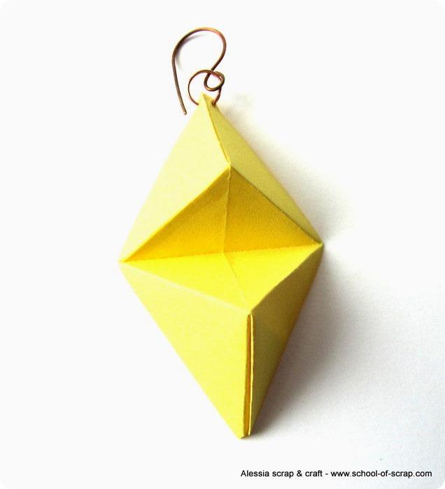 Orecchini di carta con la tecnica dell'origami