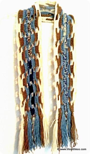 Uncinetto: una sciarpa a Punto Onda dalla Florida