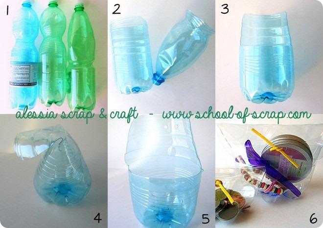 Trousse e portamonete con le bottiglie, ecco il tutorial