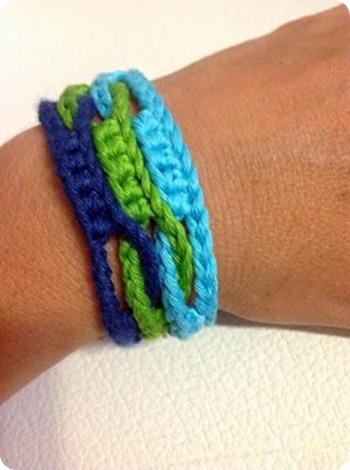 Scuola di Uncinetto: punto onda e un altro bracciale