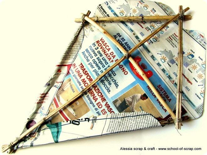 Eco Craft Tour: aquilone fai da te con la carta di giornale