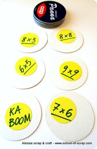 KABOOM: un gioco di carte faidate per ripassare le tabelline