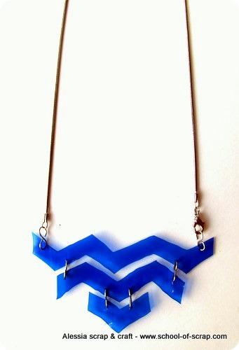 Una collana geometrica, estiva e riciclosa