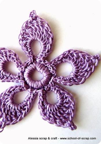 Scuola di uncinetto: il fiore a cinque petali
