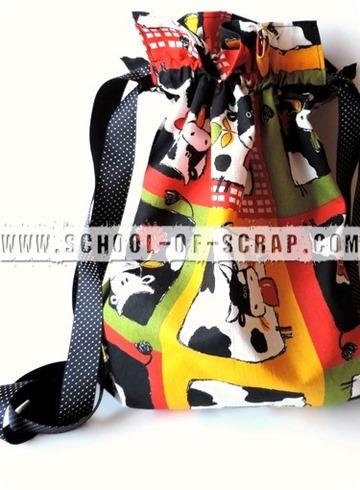 Scuola di Cucito: tutorial sacca di stoffa backpack fatta a zainetto