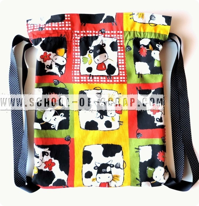 0e8d7c2c2f Scuola di Uncinetto: tutorial sacca di stoffa backpack fatta a zainetto ...